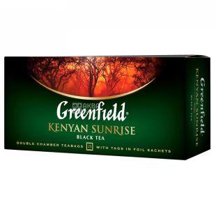 Greenfield, Kenyan Sunrise, 25 пак., Чай Грінфілд, Кеніан Санрайз чорний