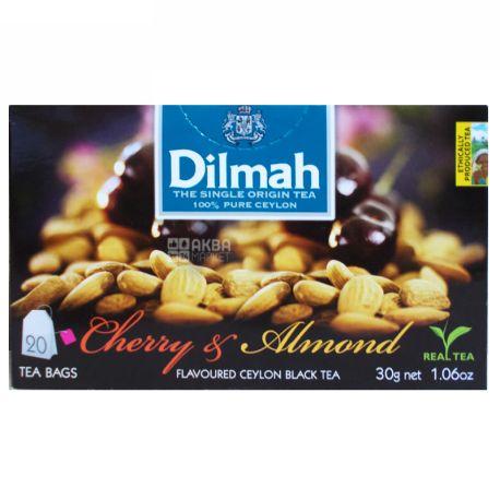 Dilmah, Cherry, Almond, 20 пак., Чай Ділма, Вишня та мигдаль, чорний