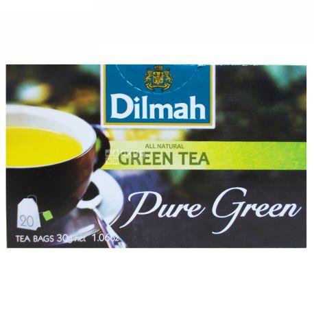 Dilmah, Pure Green, 20 пак., Чай Дилма, зеленый
