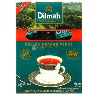 Dilmah, Ceylon Orange Pekoe, 100 г, Чай Ділма, Оранж Пекое, чорний, крупнолистовий
