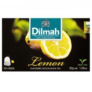 Dilmah, Lemon, 20 пак., Чай Дилма, Лимон, черный