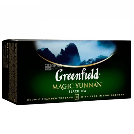 Greenfield, Magic Yunnan, 25 пак., Чай Грінфілд, Меджик Юньнань, чорний китайський високогірний