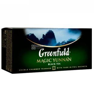 Greenfield Magic Yunnan чай черный китайский высокогорный, 25пак*2г, картонная коробка
