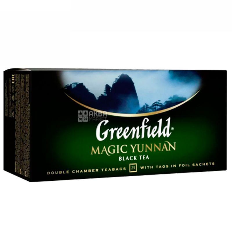 Greenfield, Magic Yunnan, 25 пак., Чай Гринфилд, Меджик Юньнань, черный китайский высокогорный