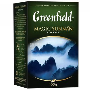 Greenfield Magic Yunnan tea black Chinese high mountain, 100g, cardboard box