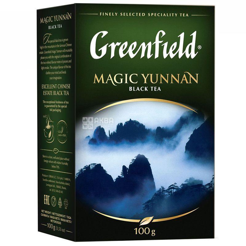 Greenfield, Magic Yunnan, 100г, Чай Грінфілд, Меджик Юньнань, чорний китайський високогірний