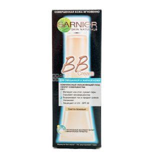 Крем для лица GARNIER для комбинированной и жирной кожи, светло-бежевый, 50мл