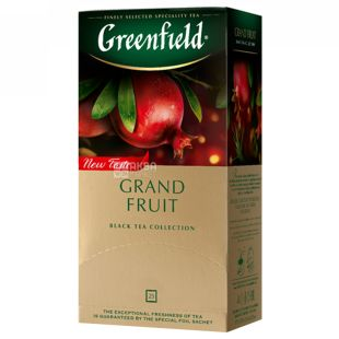 Greenfield, Grand Fruit, 25 пак., Чай Гринфилд, Гранд Фрут,  черный с гранатом