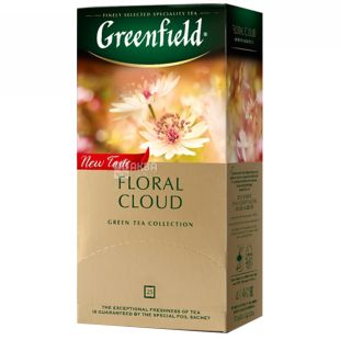 Greenfield, Floral Cloud, 25 пак., Чай Грінфілд, Флорал Клауд, зелений