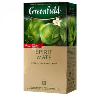 Greenfield, Spirit Mate, 25 пак., Чай Грінфілд, Спіріт Мейт, трав'яний зі смаком лайма і м'яти