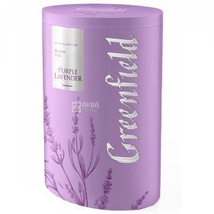 Greenfield, Purple Lavender, 100г, Чай Грінфілд, Перпл Лавендер, чорний з шоколадом, ж / б