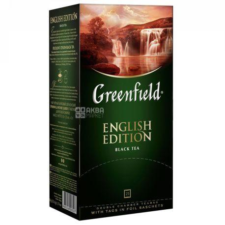 Greenfield, English Edition, 25пак., Чай Гринфилд, Инглиш Эдишн, черный