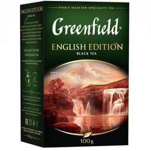 Greenfield English Edition, Black loose tea, 100g, carton