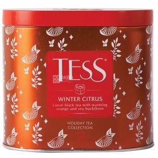 Tess Winter Citrus, Чай чорний ароматизований розсипний, 100г, ж/б