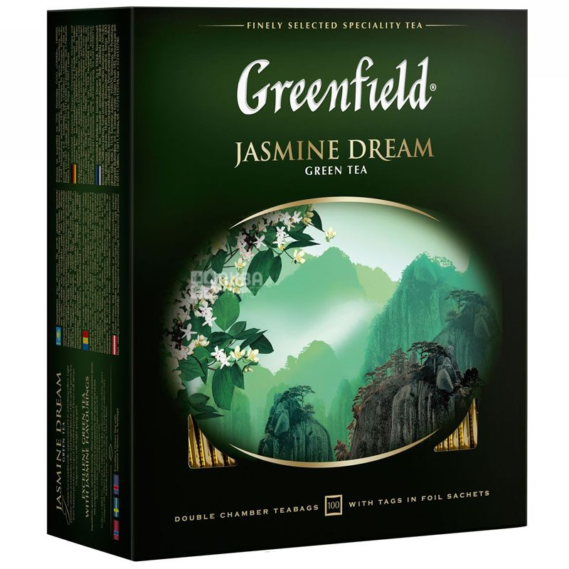 Greenfield, 100 пак., чай зелений, Jasmine Dream