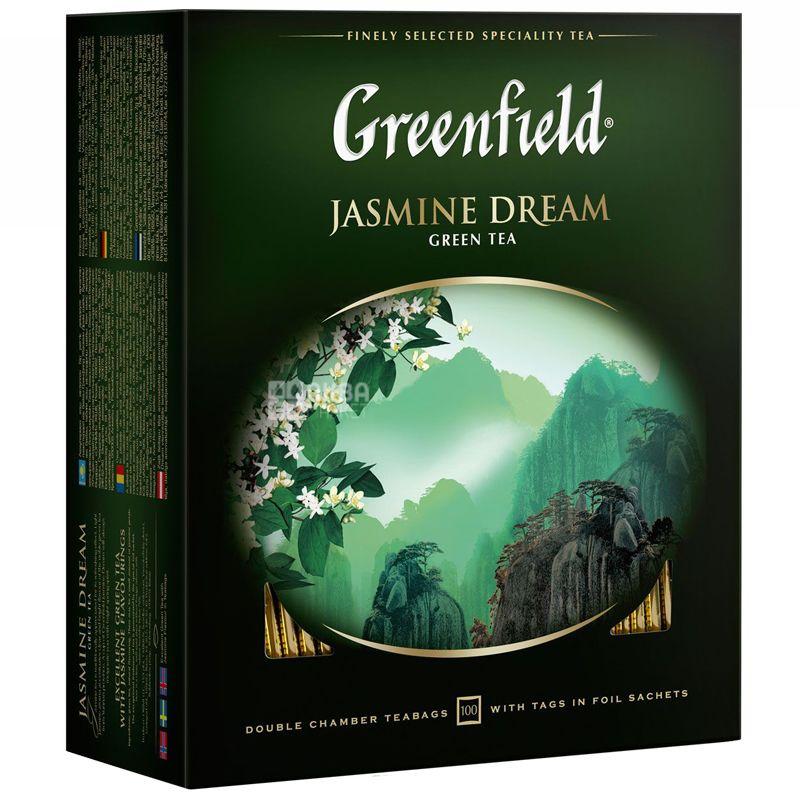 Greenfield, 100 пак., чай зеленый, Jasmine Dream