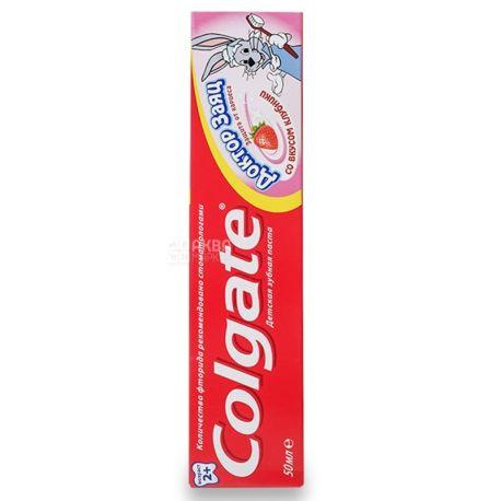 Colgate Доктор Заєць, Зубна паста, Для дітей, 2 +, Полуниця, 50 мл