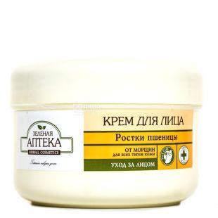 Крем Зеленая аптека Ростки пшеницы, от морщин, 200мл