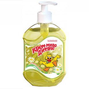 Кря-кря, Детское крем-мыло с экстрактом ромашки, 500мл, ТМ Supermash