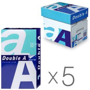Double A, Бумага офисная белая А4, 80 г/м2, 500 л.*5 шт., м/у