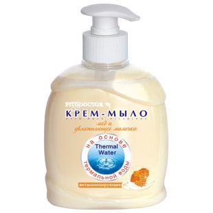 Фитодоктор Крем-мыло витаминизирующее Мёд и увлажняющее молочко 300 мл