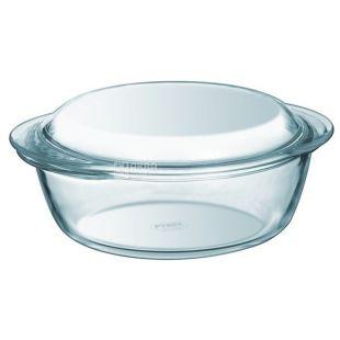 Кастрюля Pyrex, стекло, круглая, 1.3л