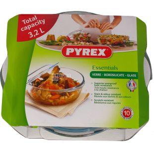 Кастрюля Pyrex, стекло, круглая, 3,2 л