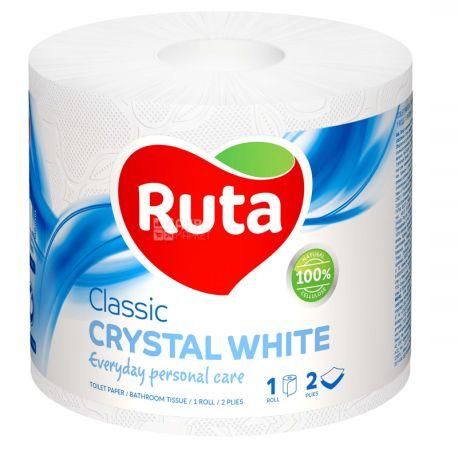 Ruta Classic, 1 рул., Туалетная бумага Рута Классик, 2-х слойная