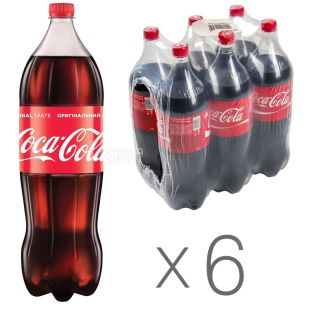 Coca Cola, Sparkling Water, 2l, PET, pack of 6 pcs