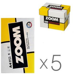 Zoom, Бумага офисная белая А4, 80 г/м2, 500 л.*5 шт., м/у