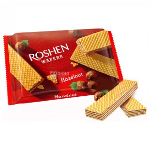 Roshen Wafers, Wafers with Nut Filling, 72 g