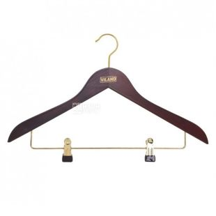 Wieland clothes hanger with clothespin, mahogany, 44.5 * 1.4 cm.