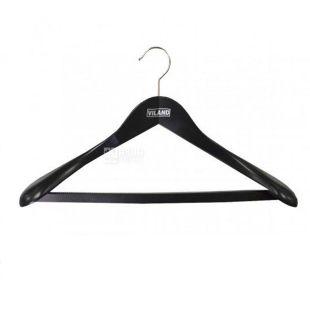 Віланд вішалка чорна для тяжкого одягу з гумовою стрічкою, на перемикачі