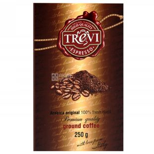 Trevi Espresso, 250 г, Кава Треві Еспрессо, темного обсмаження, мелена