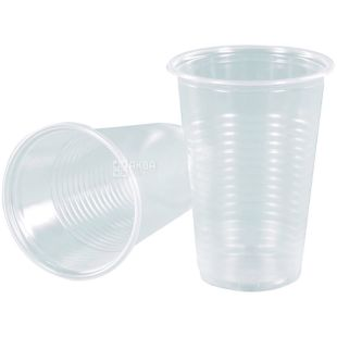 Plastic transparent glass 100 ml, 100 pcs.