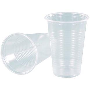 Стакан прозрачный пластиковый 100 мл, 100 шт.