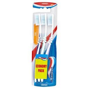 Зубна щітка Aquafresh FLEX TRIO 1 + 2, середньої жорсткості