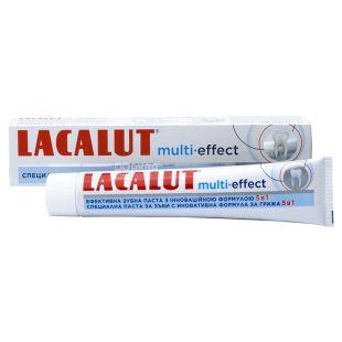 Lacalut Multi-effect, Зубна паста, 5 в 1, 75 мл