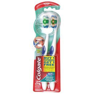 Зубна щітка Colgate 360 Clean 1 + 1, середньої жорсткості