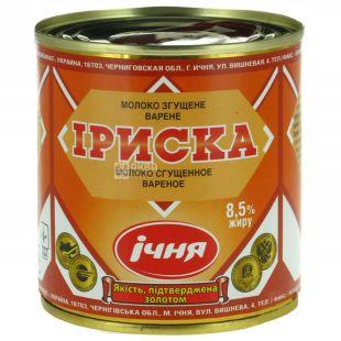 Ичня Ириска, Молоко сгущенное вареное, 8,5%, 370 г, ж/б