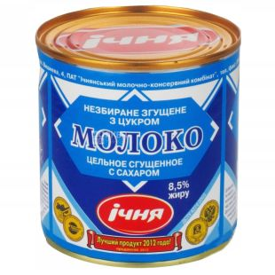 Echnya, condensed milk-containing product with sugar, 8.5%, 370 g, w / b