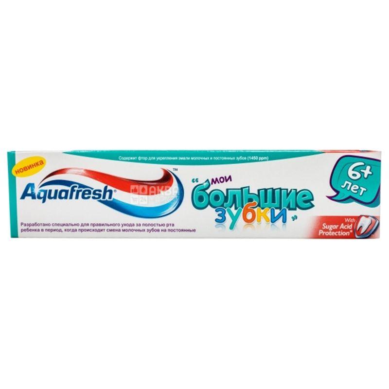 Aquafresh Мои большие зубки, Зубная паста, Для детей, 6 +, 50 мл