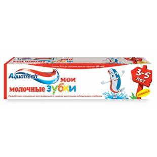 Aquafresh Мои молочные зубки, Зубная паста, Для детей, От 3 до 5 лет, 50 мл