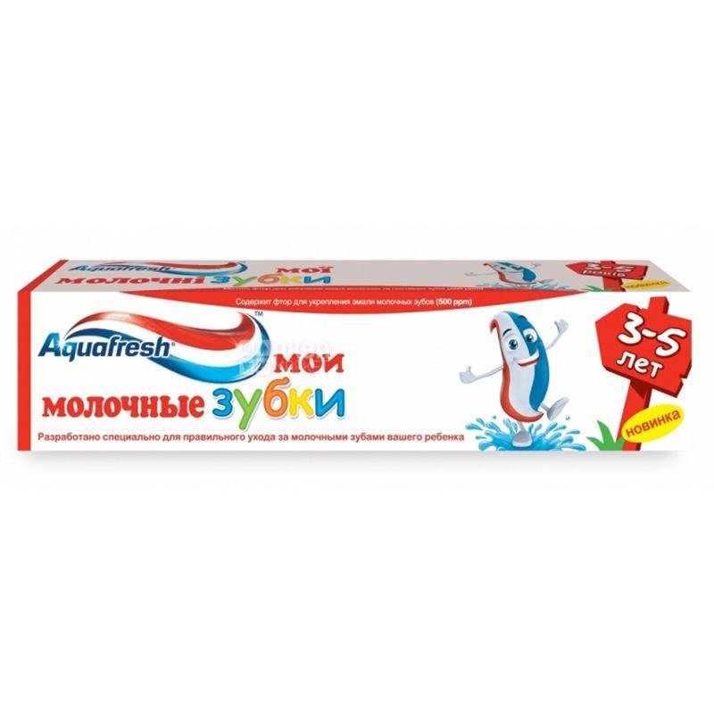 Aquafresh Мої молочні зубки, Зубна паста, Для дітей, Від 3 до 5 років, 50 мл