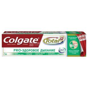 Colgate Total 12 Pro, Зубна паста, Здорове дихання, 75 мл