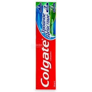Colgate Triple Action, Зубна паста, Потрійна дія, Натуральна м'ята, 150 мл