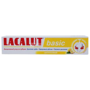Lacalut Basic, Зубна паста, Цитрусова, 75 мл