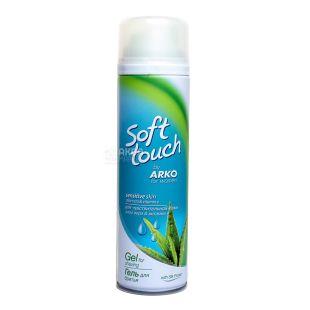 Гель для гоління Arko Soft Touch Sensitive, алое, жіночий, 200 мл