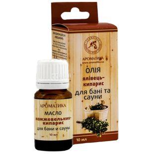 Oil for baths and saunas Juniper cypress Aromatika, 10 ml