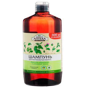 Green pharmacy, 1 liter, shampoo, Nettle and burdock oil, PET